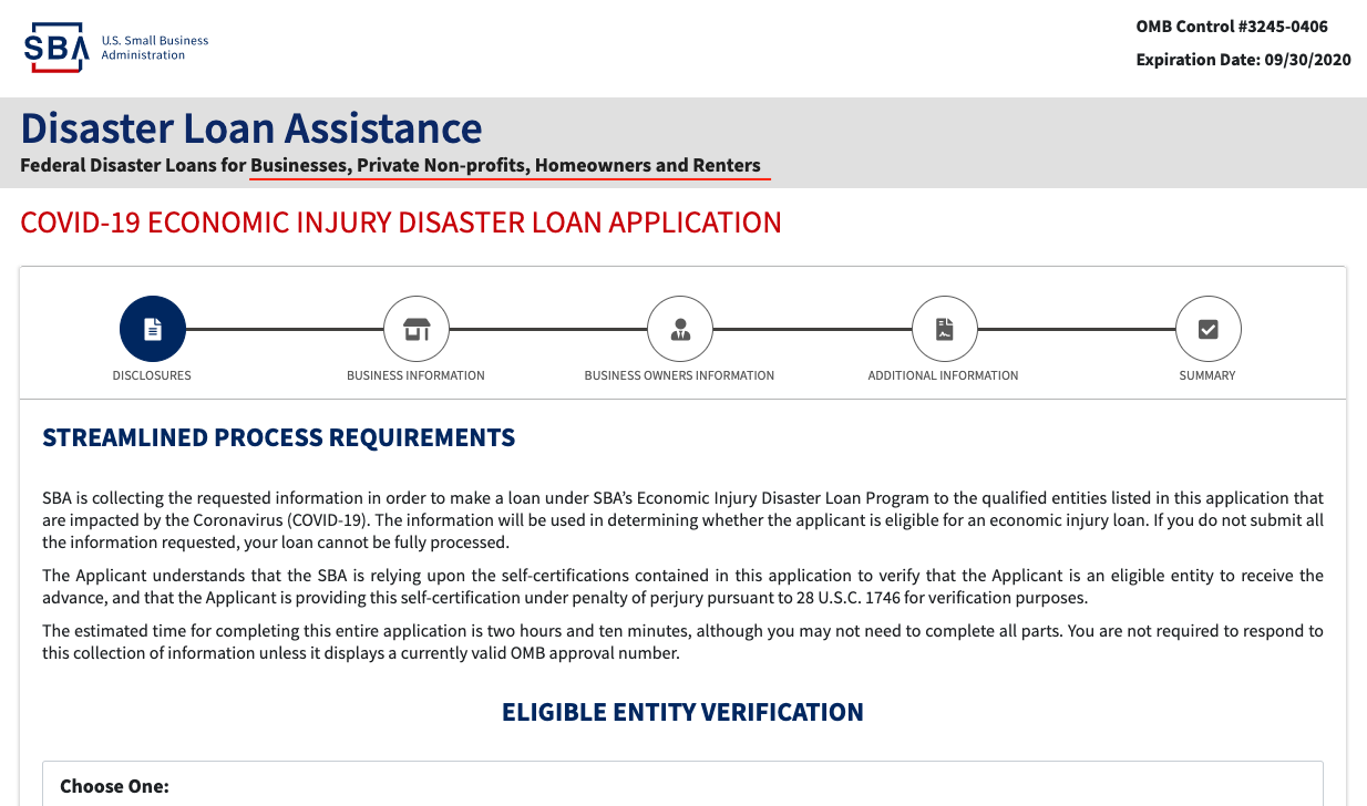 SBA Disaster Loans and Emergency Grants, Artist's Edition: What You Need to Know