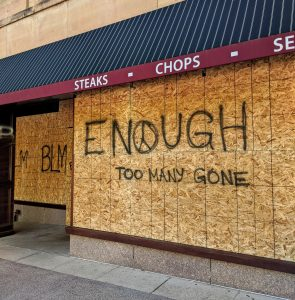 The politics of temporary murals in response to Black Lives Matter protests
